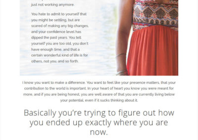 life coach wordpress website